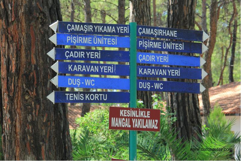 Knidos Kamp Alanları Datça