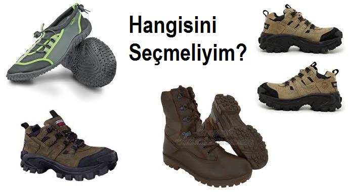 Doğada Ayakkabı Bot Seçimi