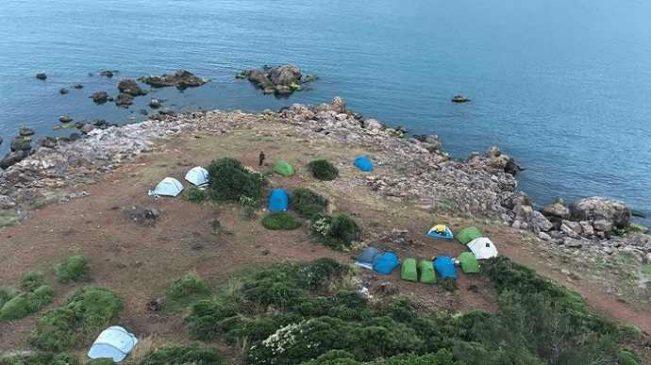 Burgazada'da çadır operasyonu