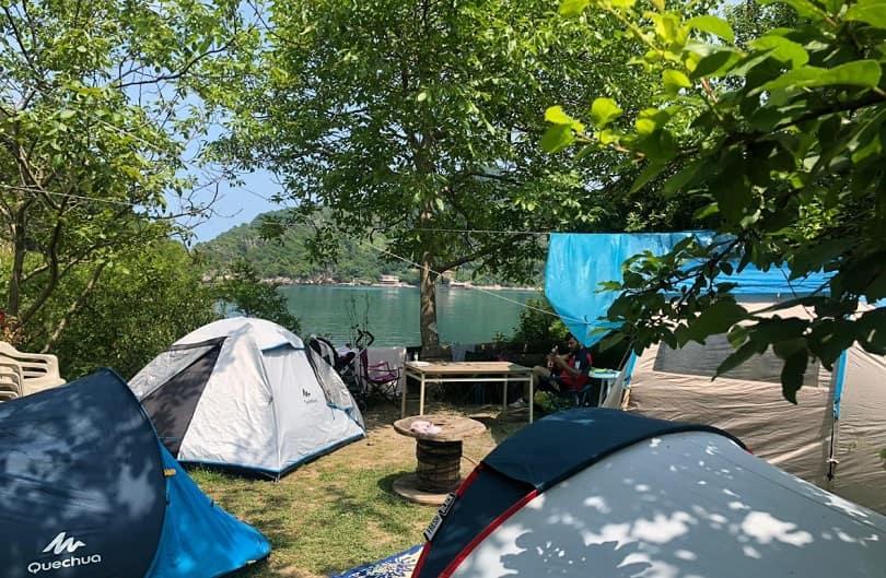 gideros koyu kamp alanı