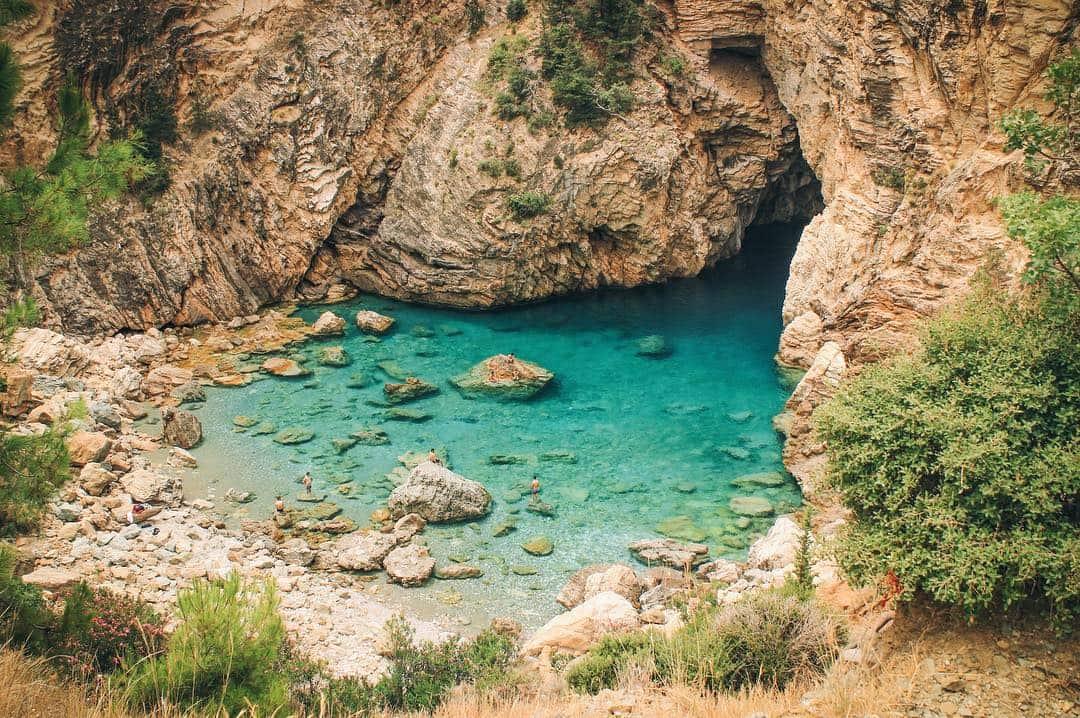 Delik Deniz Kral Koyu Antalya